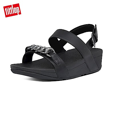 FitFlop LOTTIE CHAIN BACK-STRAP SANDALS 復古鎖鏈後帶涼鞋-女(靓黑色)