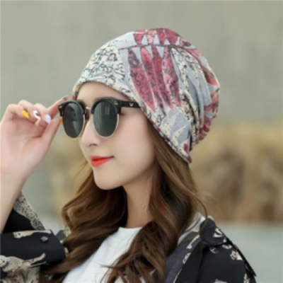 【89 zone】法式優雅透氣薄款套頭防風/頭巾帽(淺灰)