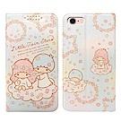 三麗鷗授權 iPhone 8/iPhone 7 4.7吋 粉嫩系列彩繪磁力皮套(花圈)