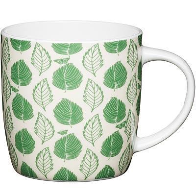 《KitchenCraft》骨瓷馬克杯(綠葉425ml)