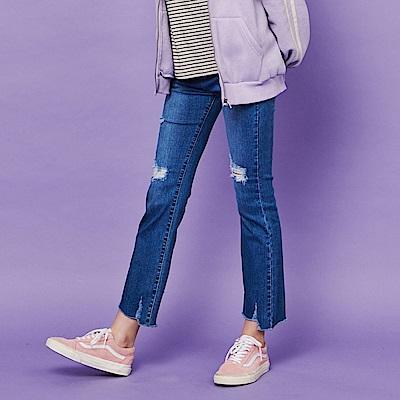 CACO-超顯瘦微喇叭褲-女【RSH121】