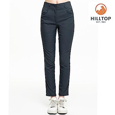 【hilltop山頂鳥】女款吸濕快乾抗UV彈性長褲S07FH1深灰