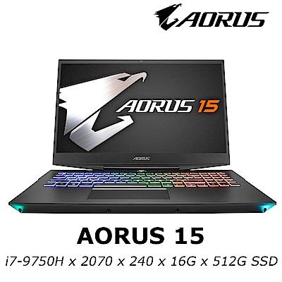 技嘉 AORUS 15 電競筆電 i7-9750H/RTX 2070 8G