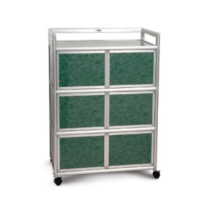 Cabini小飛象-花崗綠2.5尺鋁合金6門收納櫃73.5x50.8x115.3cm