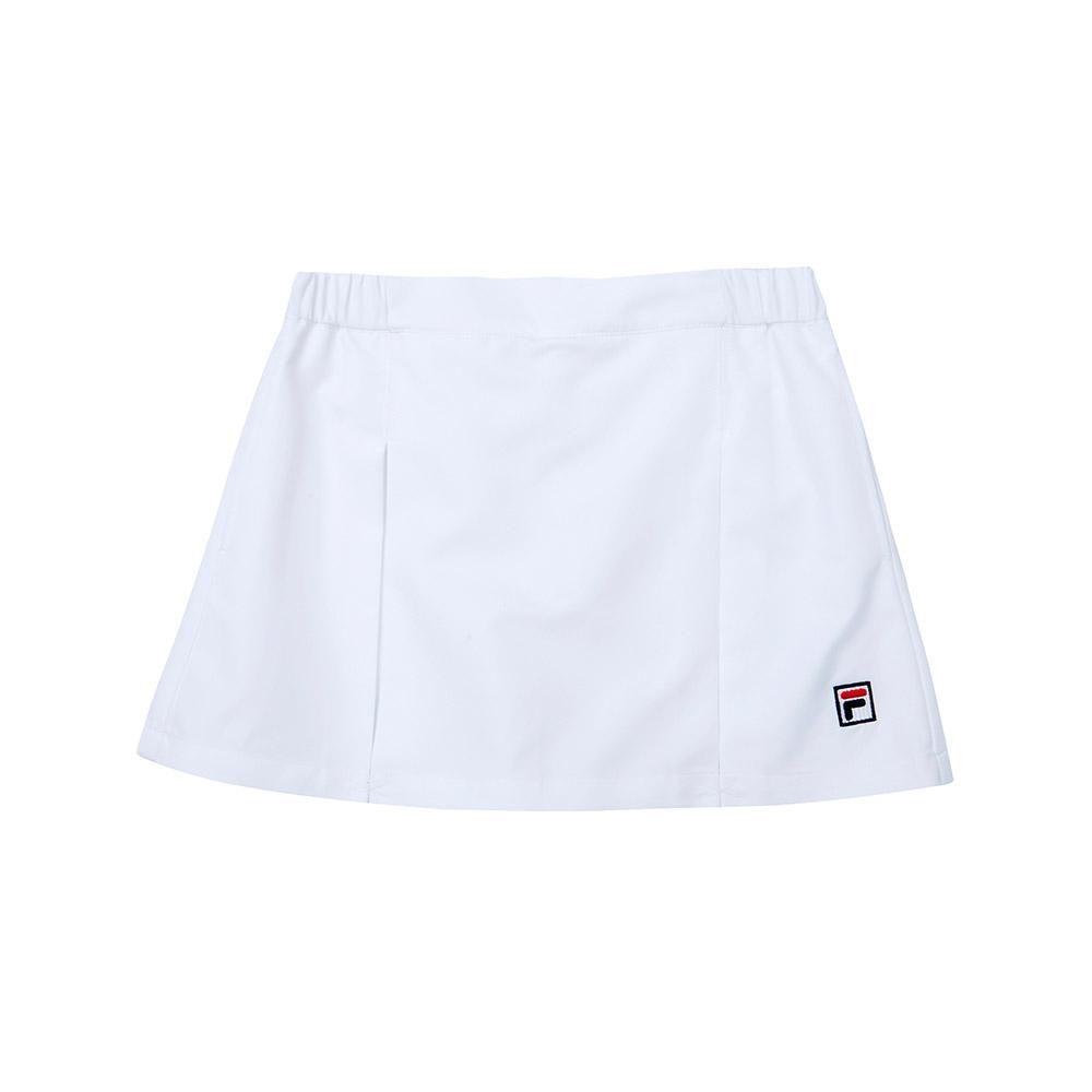 FILA KIDS 童平織短褲-白 5SHT-4445-WT