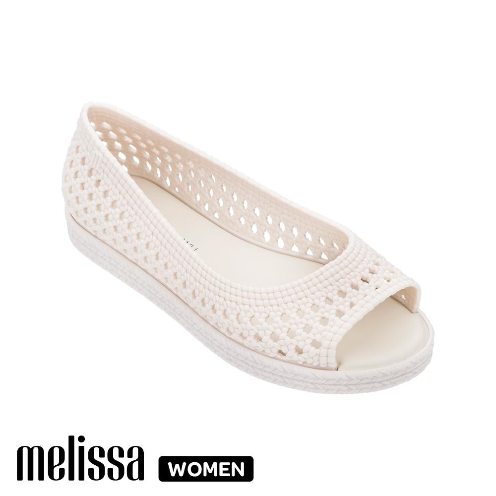 Melissa x Jason Wu 聯名編織魚口鞋  象牙白