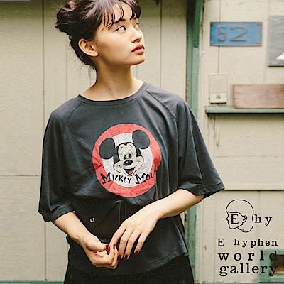 E hyphen Disney 聯名款 - 米奇圖案打印T恤
