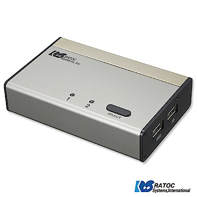 日本RATOC 2-Port DVI USB電腦KVM切換器 (REX-230UDA)