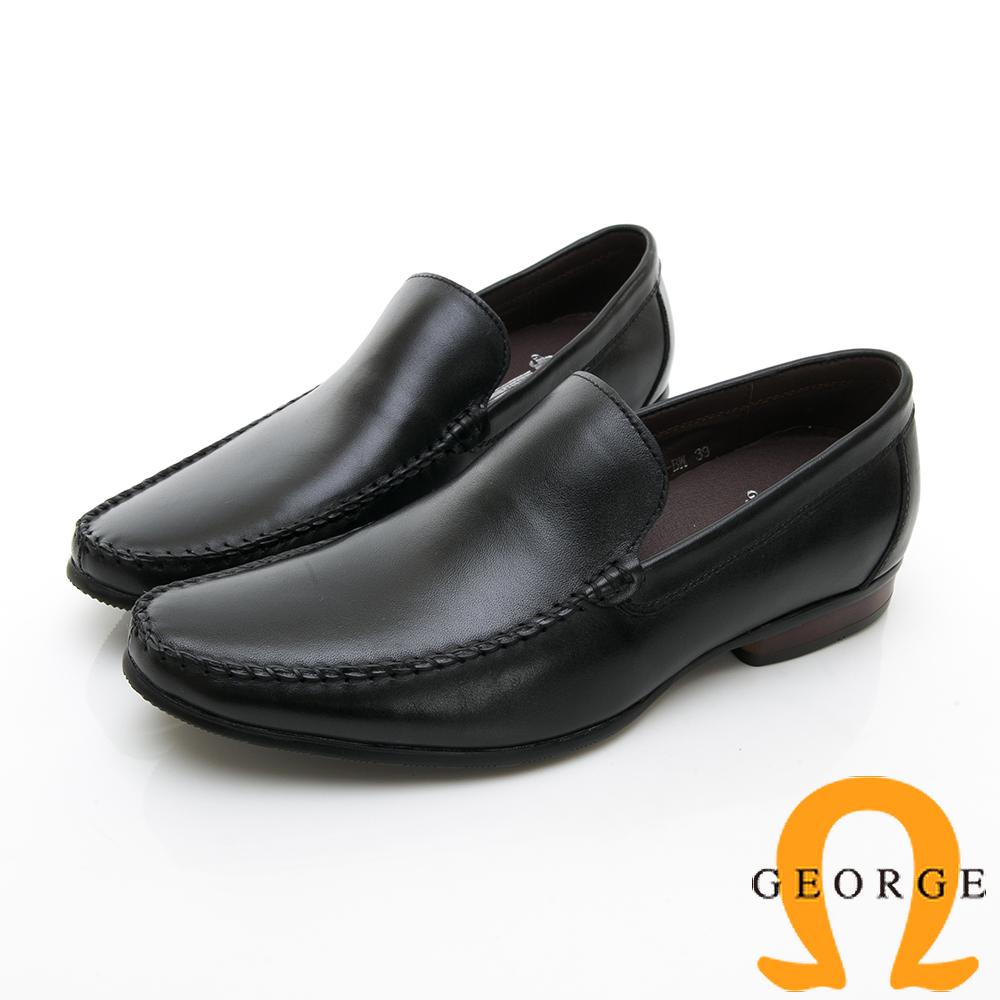 【GEORGE 喬治皮鞋】舒適系列  舒適直套式休閒鞋--黑色