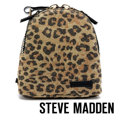 STEVE MADDEN-BTINY 派對閃耀豹紋拉鍊後背包-豹紋色