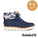 Timberland 女款海軍藍印花Kenniston翻領靴
