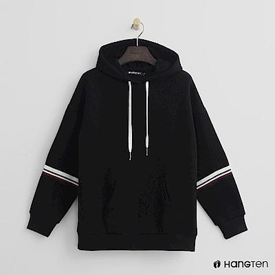 Hang Ten - 女裝 -跳色滾邊帽T-黑 @ Y!購物