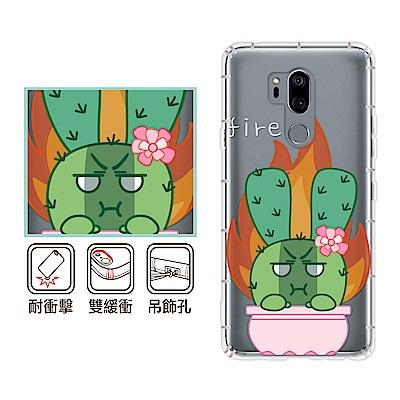 反骨創意 LG 全系列 彩繪防摔手機殼-多肉社會(怒怒兔)