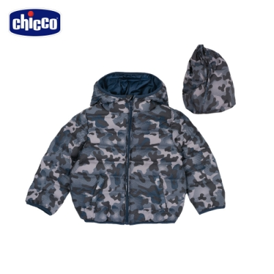 chicco- TO BE Baby-環保圓圈壓棉迷彩連帽外套