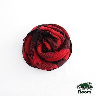 經典格紋披巾- 紅