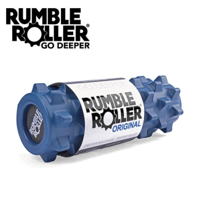 【Rumble Roller】深層按摩滾輪 狼牙棒 短版31cm 標準版硬度(瑜珈柱 按摩滾筒 筋膜放鬆 瑜珈滾筒)