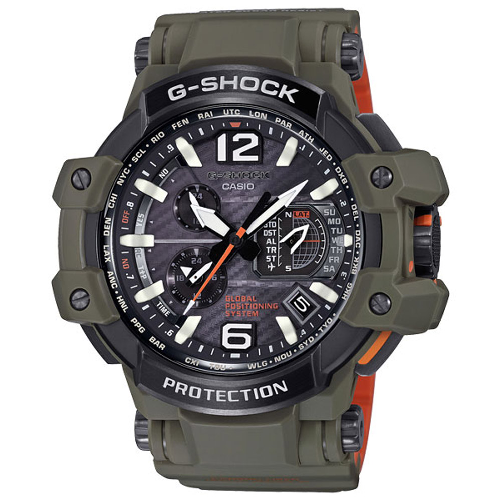 G-SHOCK 極限時空GPS電波飛行運動錶(GPW-1000KH-3A)-56mm