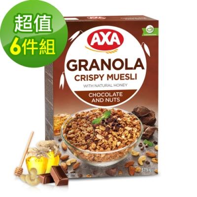699免運瑞典AXA巧克力堅果穀物麥片6件組375gx6