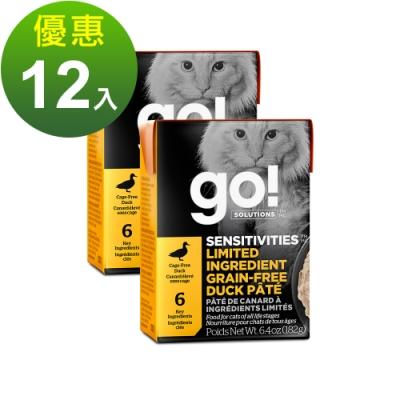 go! 豐醬無穀鴨肉 182g 12件組 鮮食利樂貓餐包 (主食罐 肉泥)