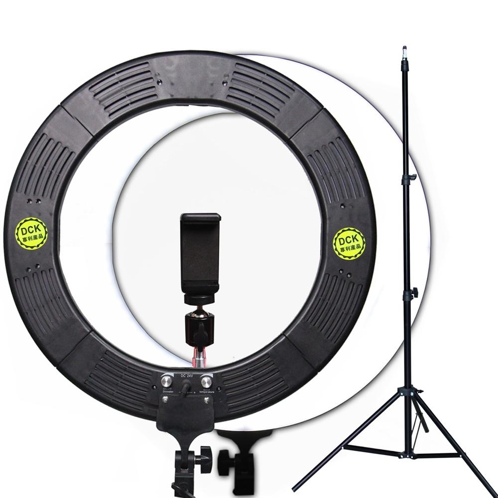 YADATEK 14吋可調色溫可調光超薄LED環形攝影燈(YR-600A)送210cm燈架