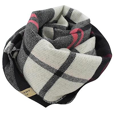 BURBERRY 經典格紋羊毛圍巾(黑)