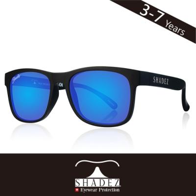 瑞士SHADEZ兒童頂級偏光太陽眼鏡SHZ-402(年齡3-7)-黑框湛藍