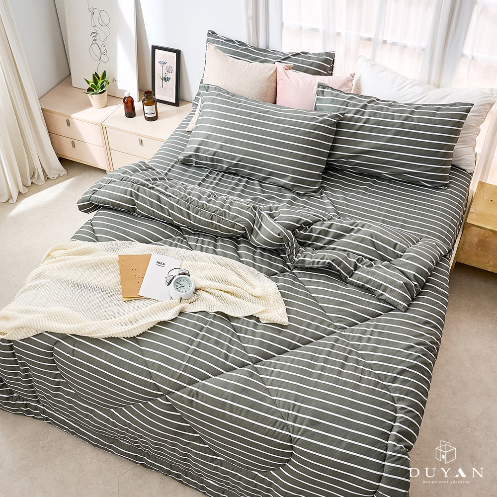 DUYAN竹漾-雙人床包組+可水洗羽絲絨被-天方夜譚