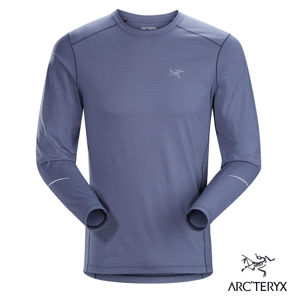 Arcteryx 始祖鳥 男 Motus 快乾長袖圓領衫 灰紫