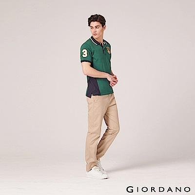GIORDANO 男裝基本款彈性低腰長褲-14 陶器卡其