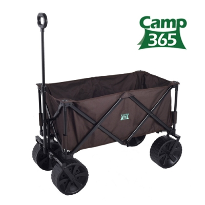 韓國Camp365 大輪徑越野型露營推車摺疊手拉車 折疊式拖拉車 置物推車 手推車 露營拉車