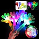 演唱會派對LED手掌拍手器-螢光閃光小手加油棒巴掌拍拍手-超值3入 kiret