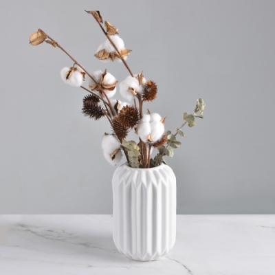 Meric Garden-北歐ins風創意摺紙陶瓷花瓶/花器_大(妃子白)