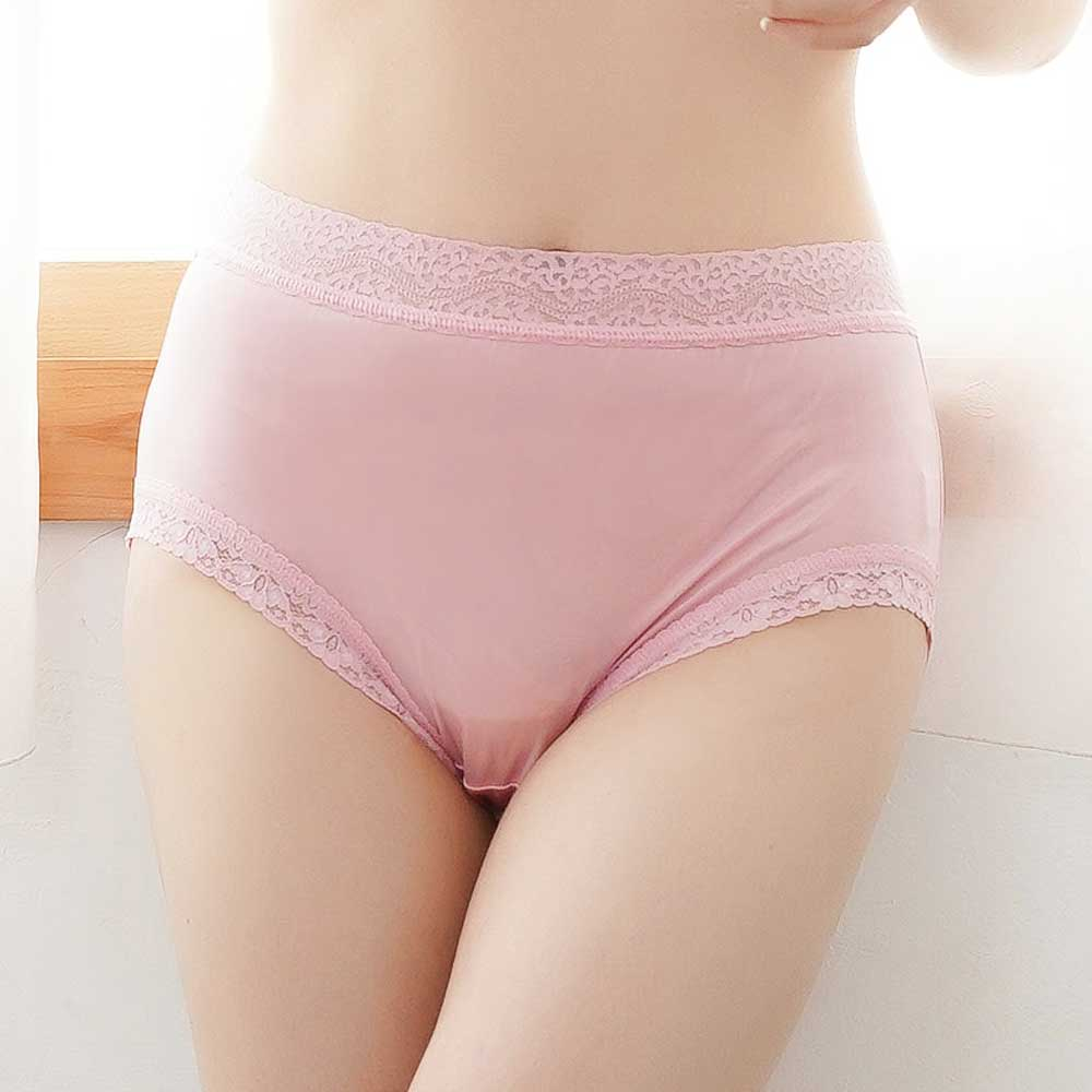 內褲 低調奢華100%蠶絲內褲 (粉) Chlansilk 闕蘭絹