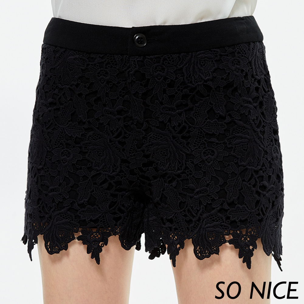 SO NICE俏麗蕾絲魅力短褲