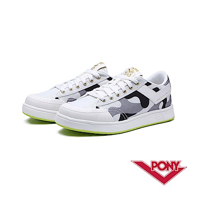 【PONY】SLAM DUNK EG系列-迷彩風格滑板鞋款-女-白