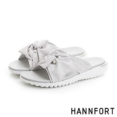 HANNFORT Ultra Flex 3D條紋珍珠涼鞋-女-優雅灰