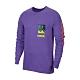 Nike 長袖T恤 Chaz Bundick Top 男款 Dri-FIT 吸濕排汗 純棉 塗鴉 圓領 紫 彩 CW0942554 product thumbnail 1