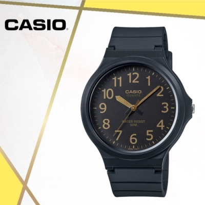 CASIO卡西歐 經典大錶面指針錶(MW-240-1B2)/48mm