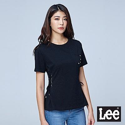 Lee 側邊綁帶短袖圓領TEE/BO