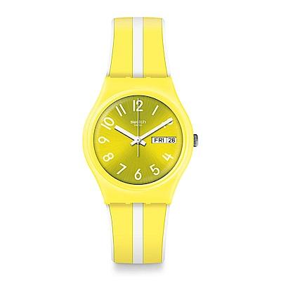 Swatch Energy Boost 系列 LEMONCELLO 青檸滋味手錶-34mm