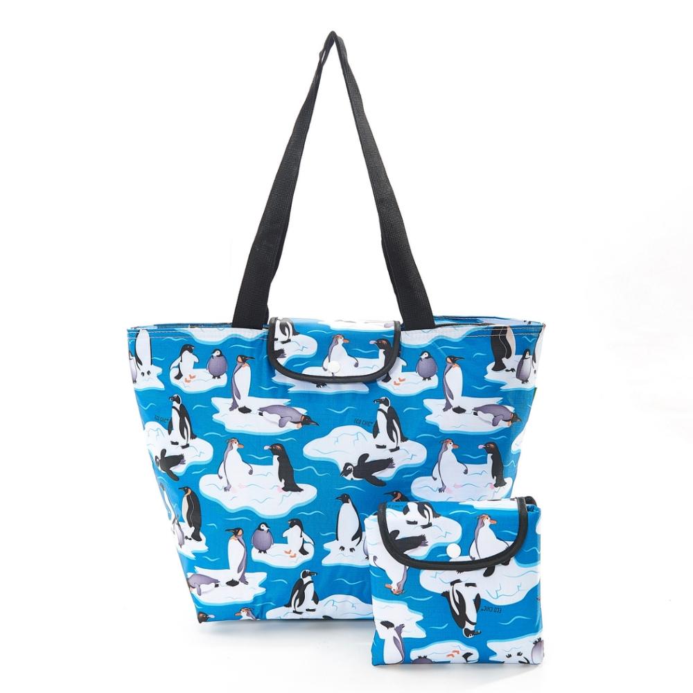 英國ECO CHIC時尚保冷袋大-企鵝
