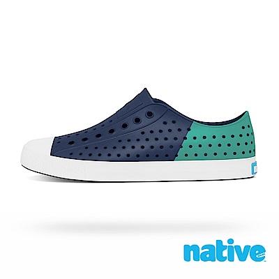 native JEFFERSON 男/女鞋-海軍藍x湖水綠