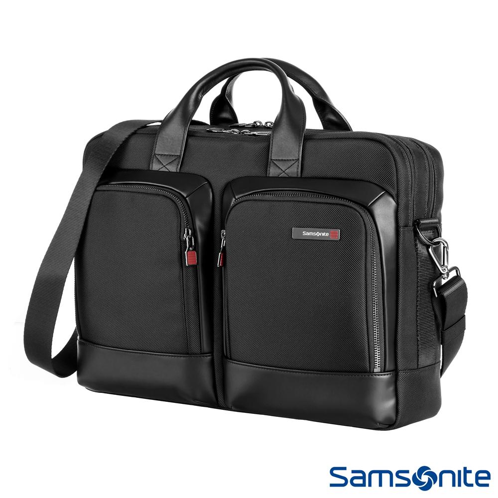 Samsonite新秀麗 Sefton商務筆電公事包M 14 (黑)