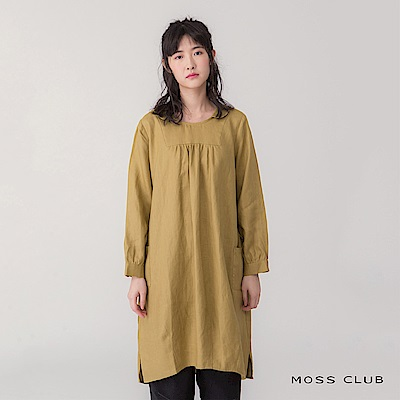 【MOSS CLUB 】娃娃造型領-連身裙(共兩色)
