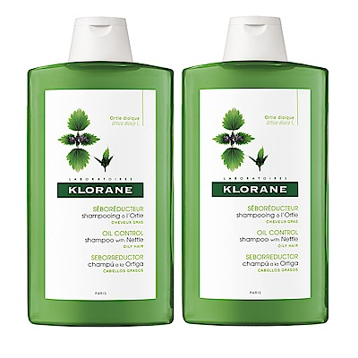 KLORANE蔻蘿蘭 控油洗髮精400ml(2入特惠)