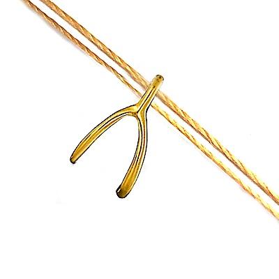 Dogeared 許願骨 Wishbone 許願超靈驗 金墜金黃色繩項鍊