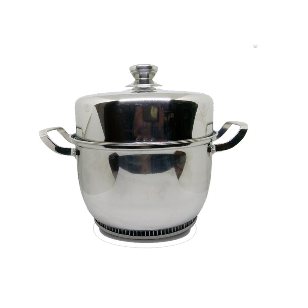 金德恩 節能速熱蒸鍋 食品級304不銹鋼蒸鍋(24cm)