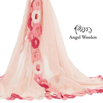 【ANGEL WOOLEN】圓舞曲印度胎羊毛手工披肩(共兩色)