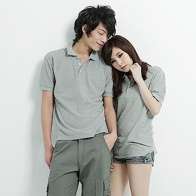達邦 P0056情侶可穿/混搭短袖素面POLO衫-灰色系