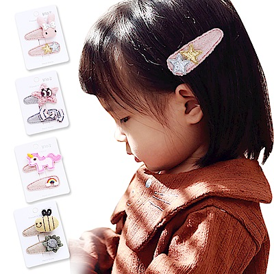 JoyNa兒童髮夾BB夾 花朵寶寶髮夾 兒童髮飾-3組入
